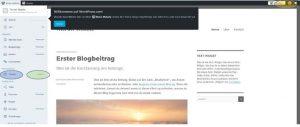 Reiseblog - Oberfläche