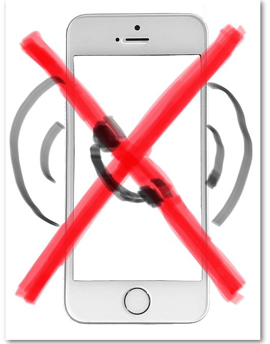 Bitte nicht stören! Stummschalten des Smartphones