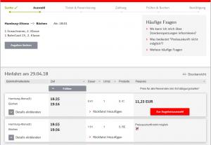 Bahn Online-Ticket buchen