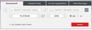 Bahn Online-Ticket Buchen 1