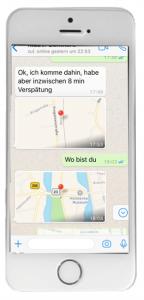 WhatsApp Standort empfangen iPhone