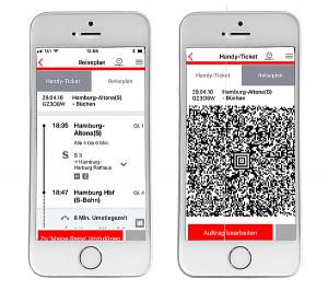 Bahn Online-Ticket auf iPhone