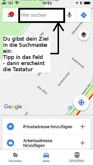 Handy-Navigation Google: Routine 01
