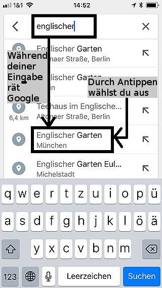 Handy-Navigation Google: Routine 02