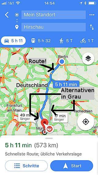 Handy-Navigation Google: Routine 05