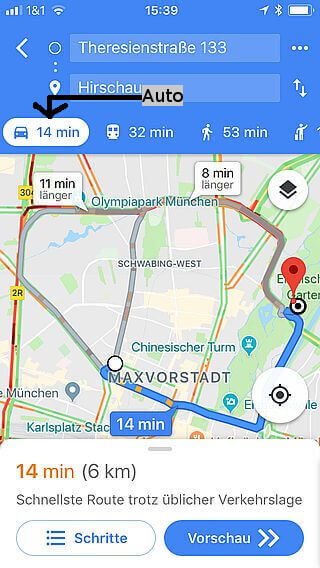 Handy-Navigation: Routing: Google 08