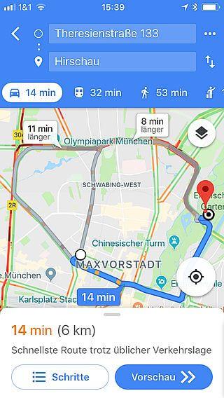 Handy-Navigation: Routing, Google 8