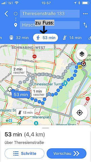Handy-Navigation: Routing: Google 09