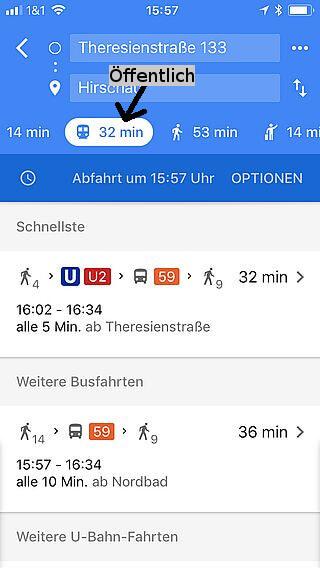 Handy-Navigation: Routing: Google 10