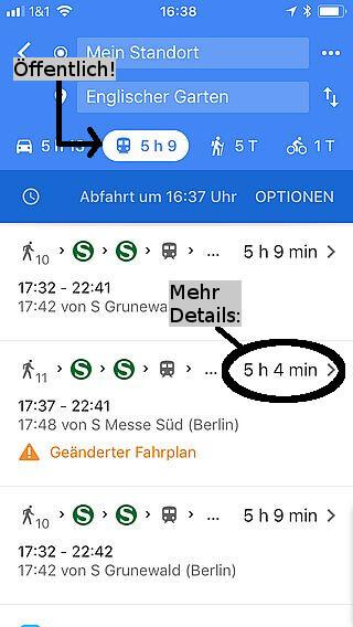 Handy-Navigation: Routing Google 14
