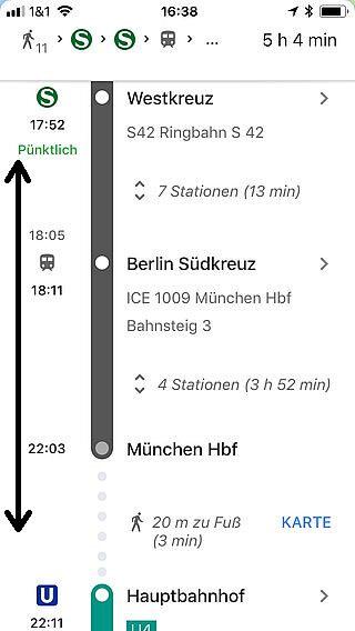 Handy-Navigation: Routing Google 16