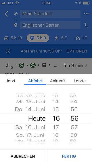 Handy-Navigation: Routing Google 17