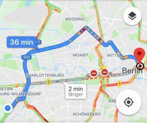 Google-Maps: Verkehrsstau