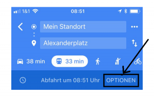 Google-Maps: Optionen
