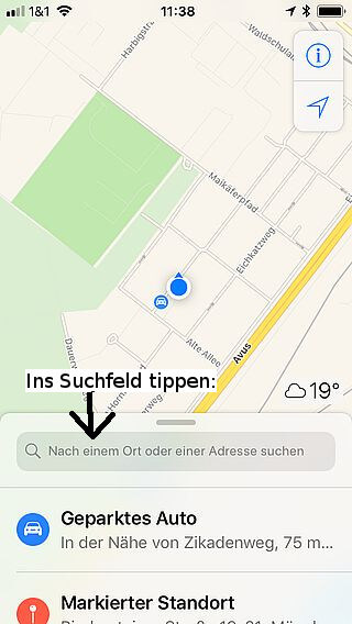 Handy-Navigation Routing mit Apple 01