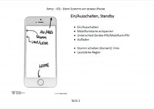 Trainerpaket iPhone Beispielseite