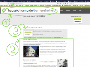 Online Spenden: Eichkamp Projektseite