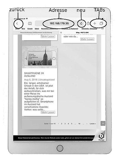 Internet surfen: iPad 1