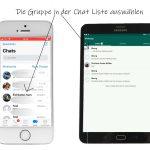 WhatsApp Stummschalten: Chatliste