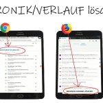 Internetseite speichern: Chronik Loeschen