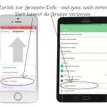 WhatsApp stumm schalten: Gruppe Verlassen