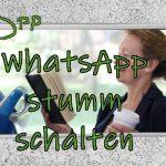 WhatsApp stumm schalten
