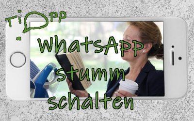 WhatsApp stumm schalten: Gruppen oder Teilnehmer