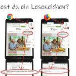 Internet Browser: auf Lesezeichen zugreifen