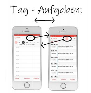 Apple Kalender-App: Tag oder Aufgaben?