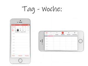 Apple-Kalender-App: Tag-Woche