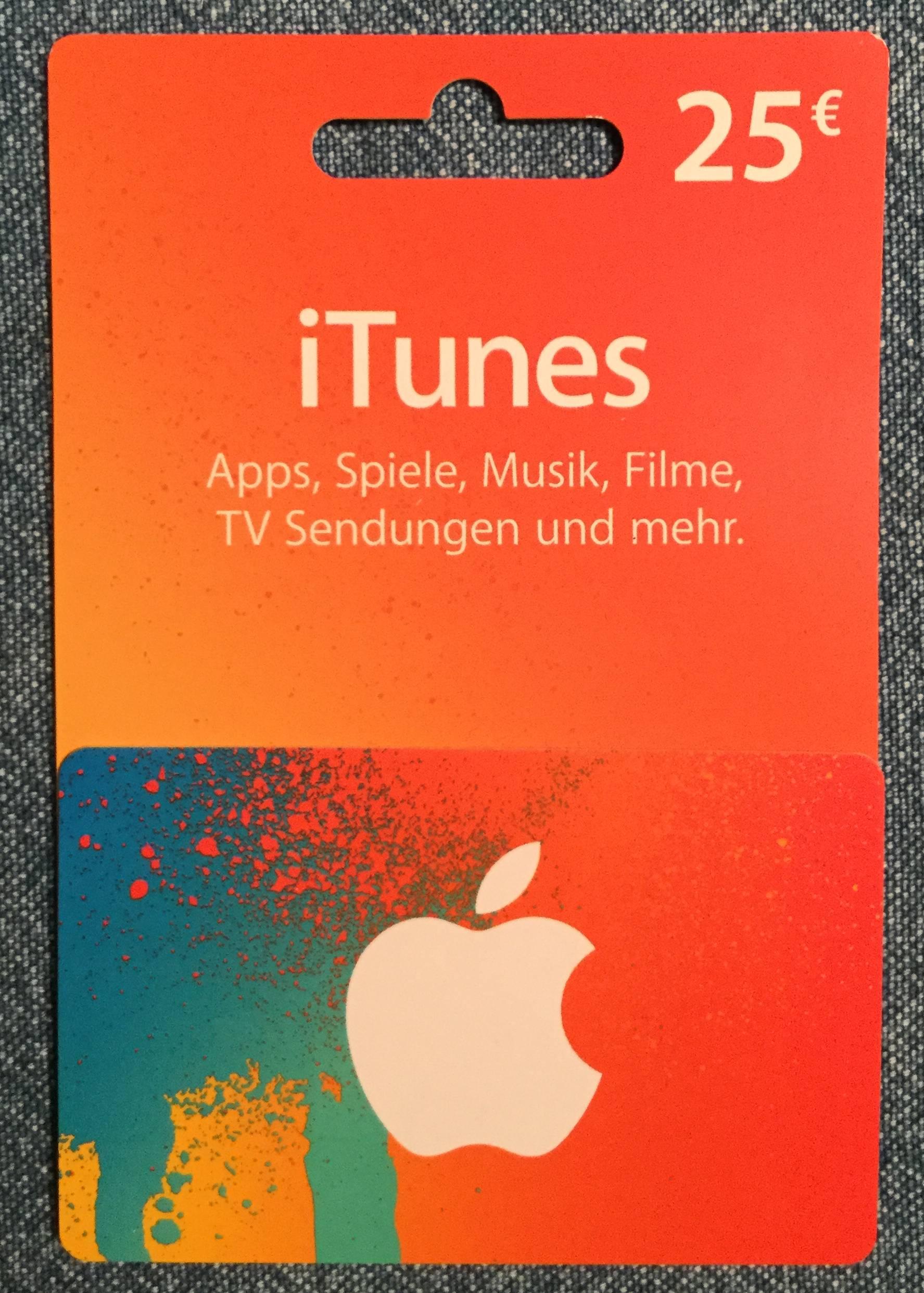 Apple Guthabenkarte von vorne