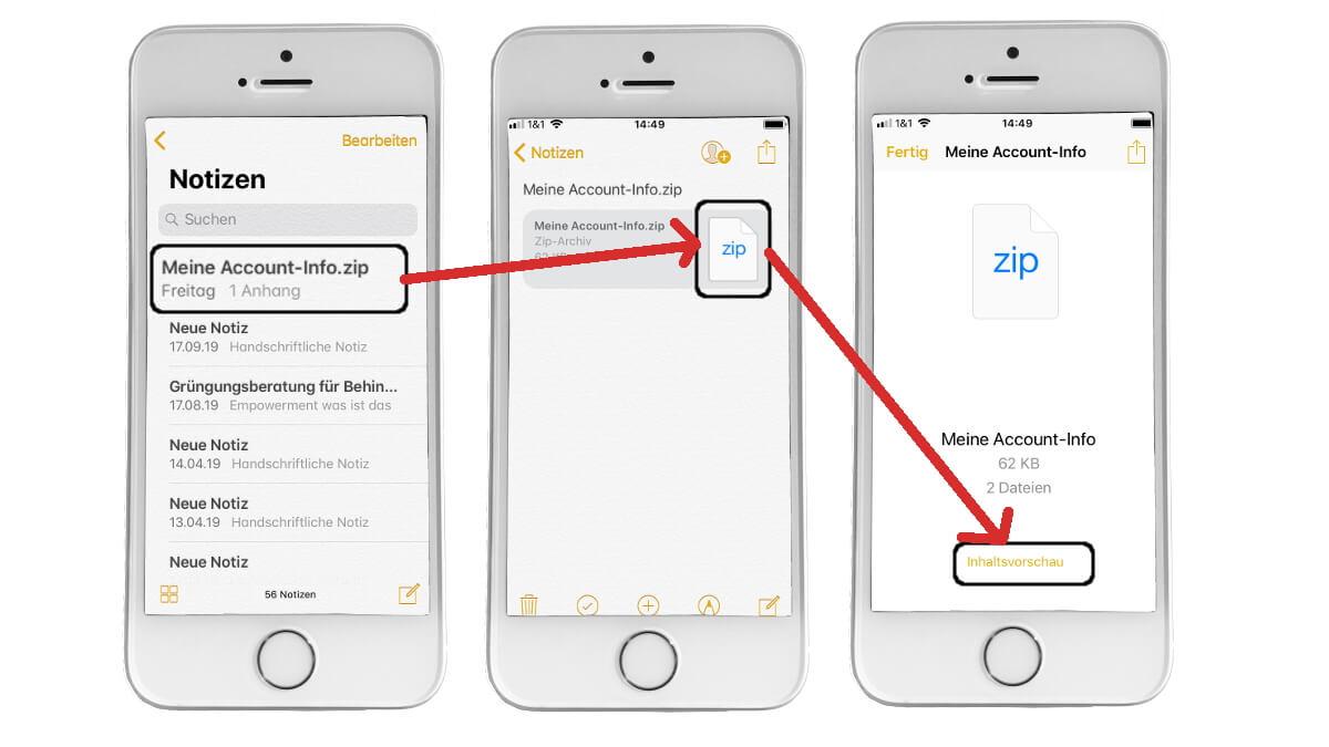 WhatsApp personenbezogene Daten auf dem iPhone anschauen