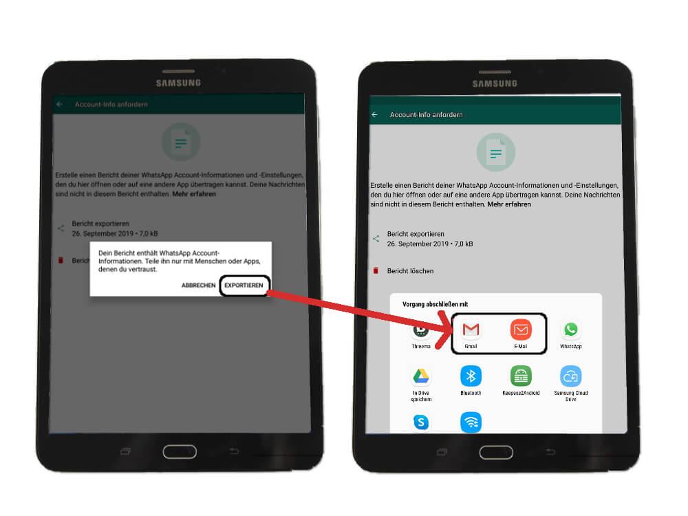 WhatsApp Personenbezogene Daten: sichern unter Android
