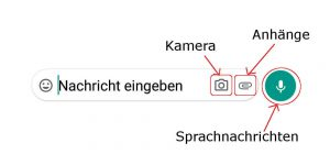 Threema Eingabezeile Android