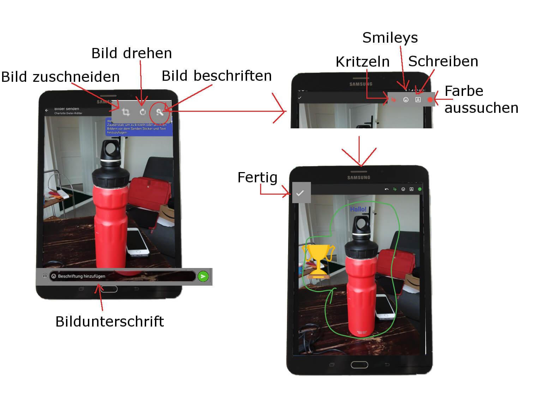 Threema Android Bildbearbeitung