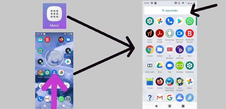 App suchen Android