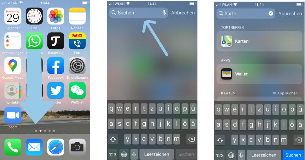 App suchen auf dem iPhone
