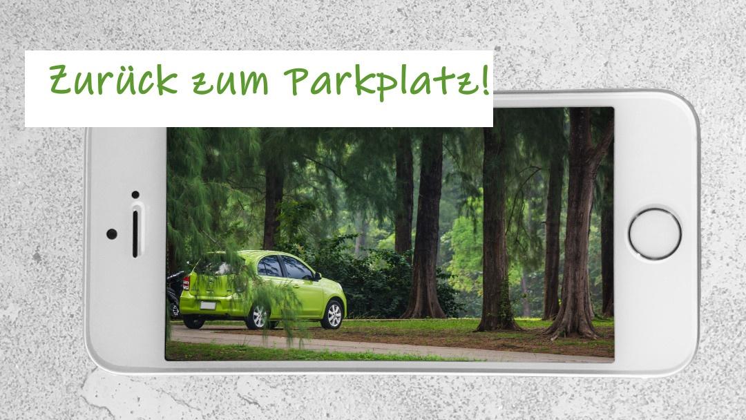 Smartphone-Navigation: Zurück zum Parkplatz